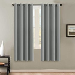 H.VERSAILTEX Insulated Thermal Blackout 72-Inch Long Grey Curtain Panels Pair – Nickel Gro ...
