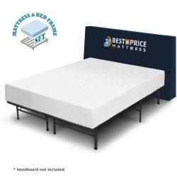 Best Price Mattress 10-Inch Memory Foam Mattress and Bed Frame Set, Twin