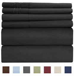 Full Size Sheet Set – 6 Piece Set – Hotel Luxury Bed Sheets – Extra Soft &#821 ...