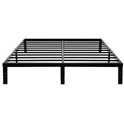 45Min 14 Inch Platform Bed Frame/Easy Assembly Mattress Foundation/Heavy Duty Steel Slat/Noise F ...