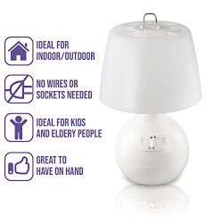 Bedside Reading LED Desk Lamp – Small Table Lamps in Living Room or Bedrooms Lights Perfect as N ...