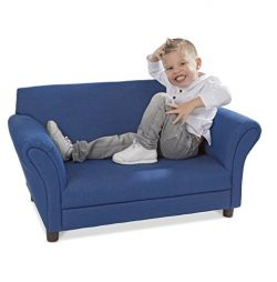 Melissa & Doug Child's Sofa – Denim Children's Furniture