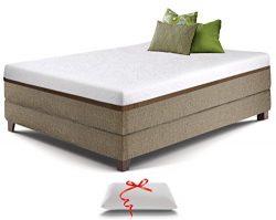 Live and Sleep Resort Ultra California King Size 12-Inch Medium-Firm Cooling Gel Memory Foam Mat ...