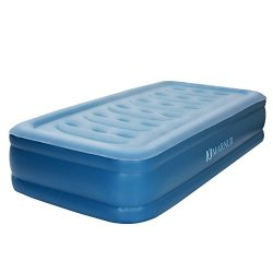 MARNUR Twin Air Mattress Inflatable Airbed with Built-in Electric Pump Storage Bag for Guests Li ...