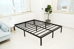 Noah Megatron 14 Inch Heavy Duty Queen Size Metal Platform Bed Frame/No Box Spring Needed Mattre ...