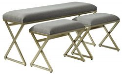Signature Design by Ashley A3000084 Accent Bench, Gray