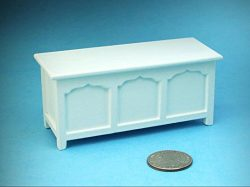 Dollhouse Miniature 1:12 Scale White Wood Opening Blanket Chest/Trunk #SDF1561 – My Mini F ...
