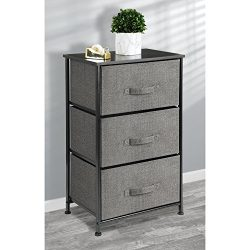 mDesign Fabric 3-Drawer Dresser and Storage Organizer Unit for Bedroom, Dorm Room, Apartment, Sm ...