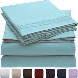 Mellanni Bed Sheet Set – Brushed Microfiber 1800 Bedding – Wrinkle, Fade, Stain Resi ...