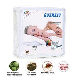 Everest Supply Premium Mattress Encasement 100% Waterproof, Bed Bug Proof, Hypoallergenic Protec ...