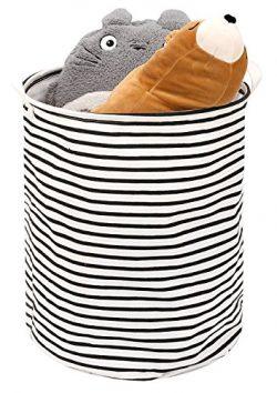 Toy Storage Bin / Laundry Hamper, Zooawa Large Collapsible Organizer Bin Waterproof Foldable Sta ...