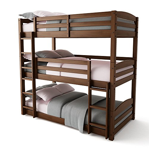 Dorel Living FZ7891TBB Phoenix Bunk Bed, Triple, Mocha