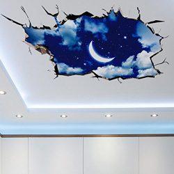 Lowprofile 3D Bridge Floor/Wall Sticker Removable Mural Decals Vinyl Art Living Room Decors (C)