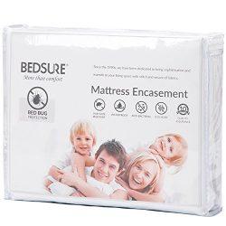 Bedsure Mattress Encasement Twin XL/Twin Extra Long Size Mattress Cover Bed Bug Mattress Protect ...