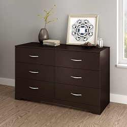 South Shore Step One Collection 6-Drawer Triple Dresser, Chocolate