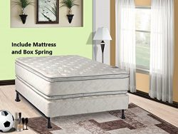 Mattress Solution 302y-3/3-2 12-Inch Plush Pillowtop, Orthopedic Doublesided Mattress and Box Sp ...