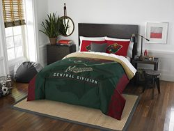 The Northwest Company Officially Licensed NHL Minnesota Wild Draft Full/Queen Comforter and 2 Sh ...