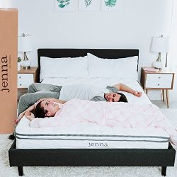 "Modway AMZ-5769-WHI Jenna 10"" Full Innerspring Mattress – Top Quality Quilted Pillow Top & ..."