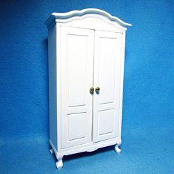 Dollhouse Miniature Armoire/Cabinet/Wardrobe in White CLA – My Mini Fairy Garden Dollhouse ...