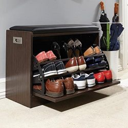 Artikle Leather Co Shoe Bench Storage 12 Pairs Organiser Hallway Bedroom