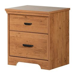 South Shore 11303 2-Drawer Nightstand Versa 2, Country Pine