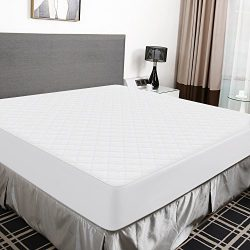 Recci Premium Bamboo Mattress Protector Twin Size – 100% Bamboo Fabric Surface Mattress Co ...