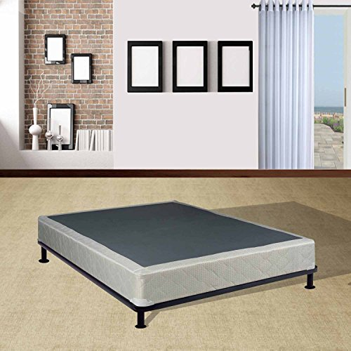 mattress solution 225y 4 6xl 3 8 inch assembled box spring foundation set for mattress full xl. Black Bedroom Furniture Sets. Home Design Ideas