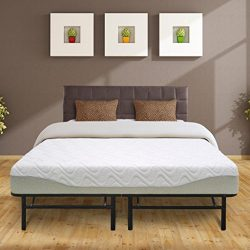 Best Price Mattress 9″ Gel-infused Memory Foam Mattress & 14″ Premium Metal Bed  ...