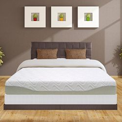 Best Price Mattress 9″ Gel-infused Memory Foam Mattress & 7.5″ New Steel Box Spr ...