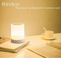 Night Light Bluetooth Speakers, ALVARY Portable Wireless Bluetooth Speaker Bedside Table Lamp De ...