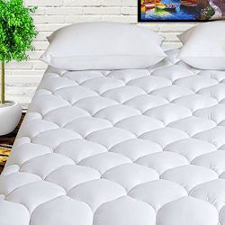 HARNY Mattress Pad Cover King Size Cooling Mattress Topper 400TC Cotton Top Quilted Pillowtop wi ...