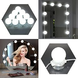 LED Vanity Mirror Lights 6500K 13.1ft Hollywood Style Vanity Lights Waterproof 10 Blubs Daylight ...