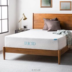 LUCID 12 Inch Gel Infused Memory Foam Mattress – Medium Firm Feel – CertiPUR-US Cert ...
