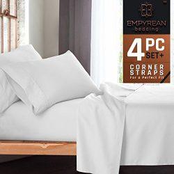 Premium 4-Piece Bed Sheet & Pillow Case Set – Luxurious & Soft Twin Size Linen, Extra De ...