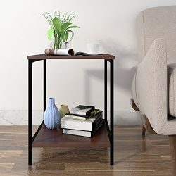 Lifewit 2-tier Side Table End Table, Nightstand, Coffee Table for Bedroom Living Room, Modern Co ...