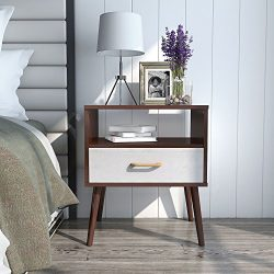 Lifewit Side Table End Table Nightstand Bedroom Living Room Table Cabinet with 1 Drawer