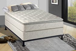 Spinal Solution Fully Assembled 10″ Orthopedic Mattress with Pillow Top and Box Spring, Full