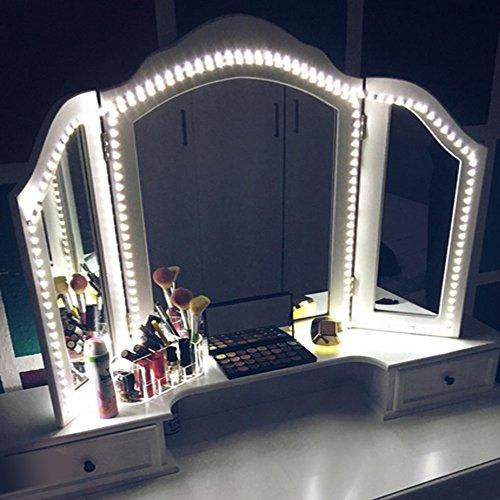 led vanity mirror lights kit mztdytl 13ft 4m led mirror light strip 240 leds soft daylight. Black Bedroom Furniture Sets. Home Design Ideas