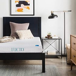 LUCID 6 Inch Gel Infused Memory Foam Mattress – Firm Feel – Perfect for Children  ...