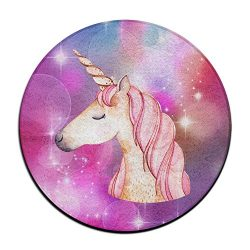 Be A Unicorn In A Field Of Horses Soft Coral Velvet Circular General Purpose Floor Mat Or Rug Us ...
