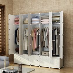 MAGINELS Magicial Panels Wardrobe Portable Closet for Bedroom Clothes Armoire Dresser MultiFunca ...
