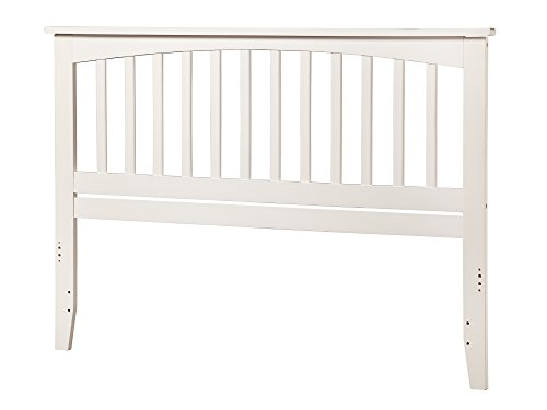 Atlantic Furniture AR287852 Mission Headboard, King, White