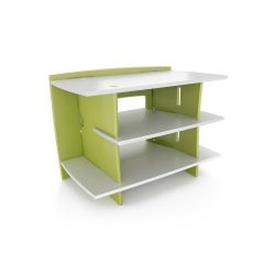 Legaré Kids Furniture Frog Series Collection, No Tools Assembly Gaming Center Stand, Lime Green  ...