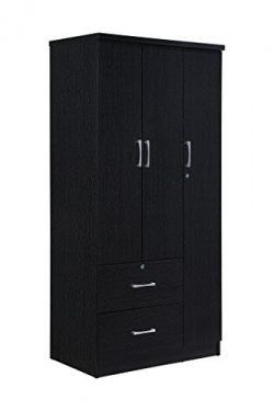 Hodedah HID8020 (MOP) Bedroom Armoires, Black