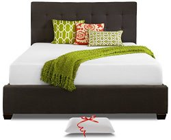 Live and Sleep Resort Classic King Size 10 Inch Cooling Medium-Firm Memory Foam Mattress and Pre ...