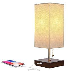 Brightech Grace LED USB Bedside Table & Desk Lamp – Modern Lamp with Soft, Ambient Light, Un ...