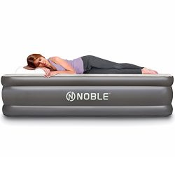Noble QUEEN SIZE Comfort UPGRADED LUXURY double high Raised Air Mattress – BEST Inflatable ...