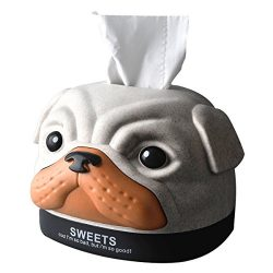 Bobby Dog Modeling Paper Facial Tissue Box Cover/Holder for Bathroom Vanity Countertops, Bedroom ...