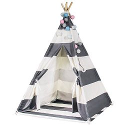 Touch-Rich 6FT Durable Teepee for Kids, Indian Play Tent, Sturdy & Safe Kids' Furnitur ...