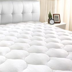 "Masivs Queen Mattress Pad Cover 8-21""Deep Pocket – Overfilled Mattress Topper Snow Down Al ..."